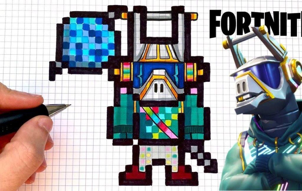 pixel art fortnite