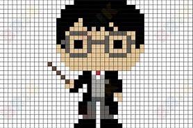 pixel art harry potter